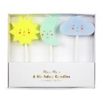 Meri Meri 6 Candles SUN, MOON & CLOUD
