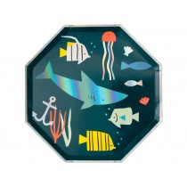 Meri Meri 8 Side Plates UNDER THE SEA