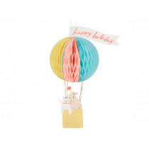Meri Meri 3D Honeycomb Birthday Card HOT AIR BALLOON