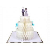 Meri Meri 3D Honeycomb Card WEDDING CAKE