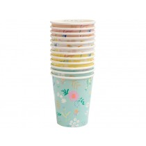 Meri Meri 12 Party Cups WILDFLOWER pastel