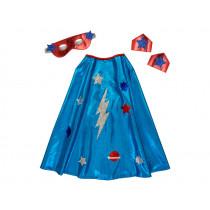 Meri Meri Dress Up Set SUPERHERO CAPE blue