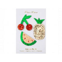 Meri Meri 3 Iron On Patches GLITTER FRUIT