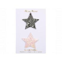 Meri Meri 2 Iron On Patches GLITTER STARS
