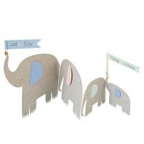 Meri Meri 3D Greeting Card ELEPHANTS Baby Boy