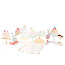 Meri Meri 3D Birthday Card CAKE & DESSERT