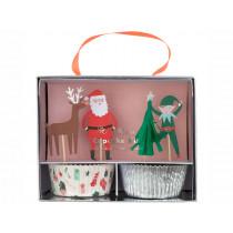 Meri Meri Cupcake Set CHRISTMAS ICONS