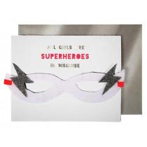 Meri Meri Birthday Card SUPERHERO Girl