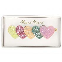 Meri Meri Glitter Hair Clip HEARTS