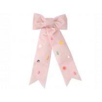 Meri Meri Hair Clip VELVET BOW pink