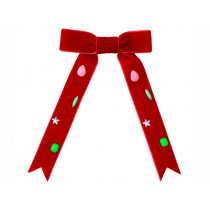 Meri Meri Hair Clip VELVET BOW red