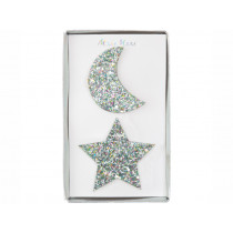 Meri Meri 2 Hair Clips STAR & MOON