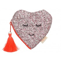 Meri Meri Coin Purse HEART glitter