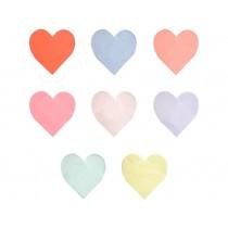 Meri Meri Large Napkins HEART pastel