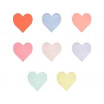 Meri Meri Small Napkins HEART pastel