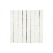 Meri Meri 16 Small Paper Napkins SILVER STRIPES