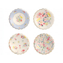 Meri Meri 8 Side Plates ENGLISH GARDEN