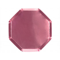 Meri Meri 8 Party Plates METALLIC PINK