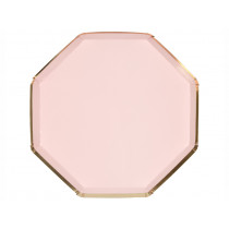 Meri Meri 8 Party Plates DUSTY PINK