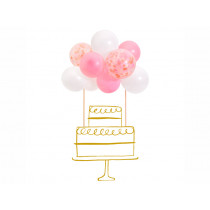 Meri Meri Cake Topper Kit CONFETTI BALLOONS pink