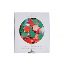Meri Meri Confetti Balloon Kit Stars X-MAS