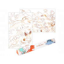 Meri Meri XL Colouring Posters DINOSAUR