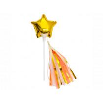 Meri Meri 6 Mini Foil Balloons GOLD STARS