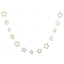 Meri Meri Mini Garland STARS Gold Glitter