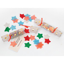 Meri Meri 6 Mini Party Confetti Crackers STAR
