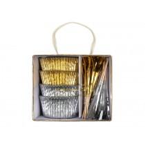 Meri Meri Cupcake Kit GOLD & SILVER