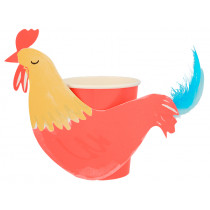 Meri Meri 8 Party Cups ROOSTER On the Farm