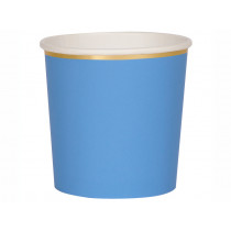 Meri Meri 8 Tumbler Party Cups BRIGHT BLUE