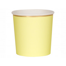 Meri Meri 8 Tumbler Party Cups PALE YELLOW