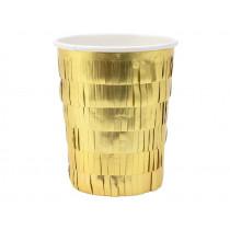 Meri Meri 8 Party Cups GOLD FRINGE