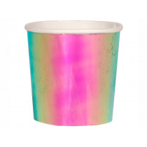Meri Meri 8 Tumbler Party Cups IRIDESCENT PINK