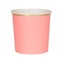 Meri Meri 8 Tumbler Party Cups NEON CORAL