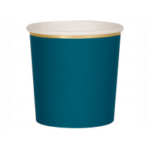 Meri Meri 8 Tumbler Party Cups DARK TEAL