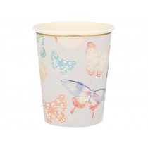 Meri Meri 8 Party Cups BUTTERFLY