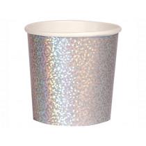 Meri Meri 8 Tumbler Cups SILVER SPARKLE