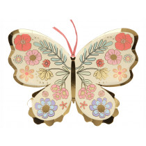 Meri Meri 8 Party Plates BUTTERFLY & FLOWERS
