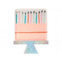 Meri Meri 8 Party Plates BIRTHDAY CAKE