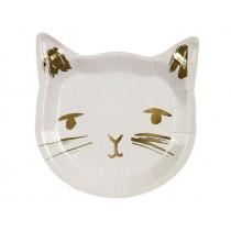 Meri Meri 8 Paper Plates CAT