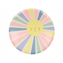 Meri Meri 12 Large Party Plates RAINBOW SUN