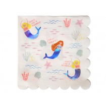 Meri Meri Large Party Napkins Mermaids