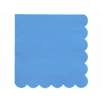 Meri Meri 20 Large Napkins BRIGHT BLUE