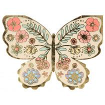 Meri Meri 16 Napkins BUTTERFLY & FLOWERS