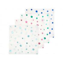 Meri Meri Large Napkins STARS Metallic