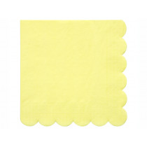 Meri Meri 20 Large Napkins PALE YELLOW