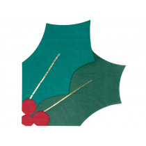 Meri Meri 16 Paper Napkins HOLLY LEAF