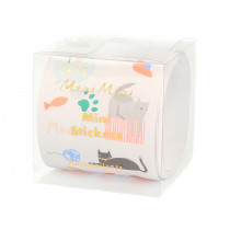 Meri Meri 500 Mini Stickers on a Roll CAT PARTY